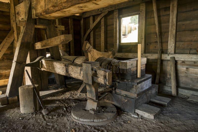 国家历史的铁工作在索格斯,马萨诸塞 免版税图库摄影