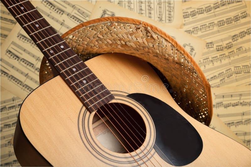 国家和西部音乐 库存照片