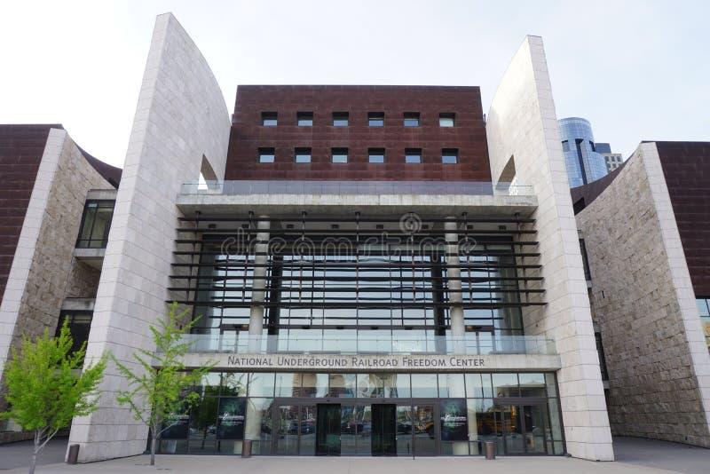 国家地下铁道自由中心是一个博物馆在街市辛辛那提 库存照片