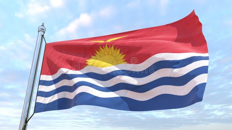 国家基里巴斯的编织的旗子 向量例证
