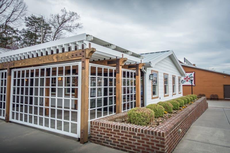 国家家和餐馆田纳西山的 免版税库存照片