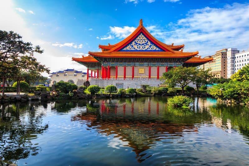 国家戏院和光华池塘,台北 免版税图库摄影