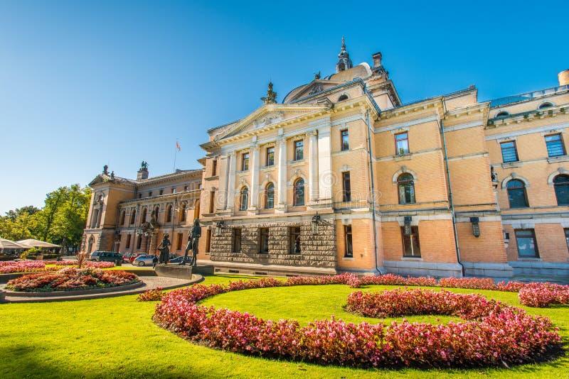 国家戏院在奥斯陆 库存照片