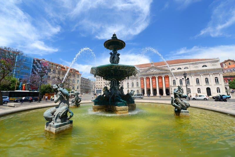 国家戏院玛丽亚夫人II,里斯本,葡萄牙 图库摄影