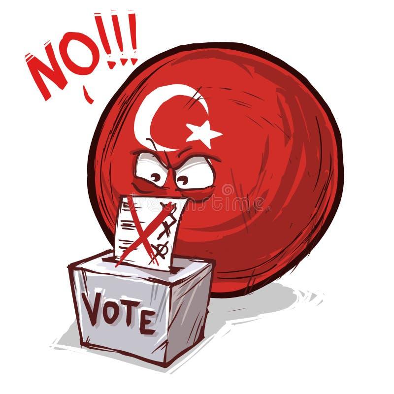 国家投反对票球的火鸡 皇族释放例证