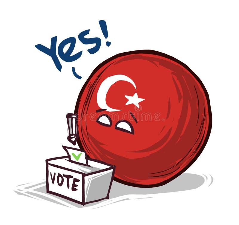 国家投赞成票球的火鸡 库存例证
