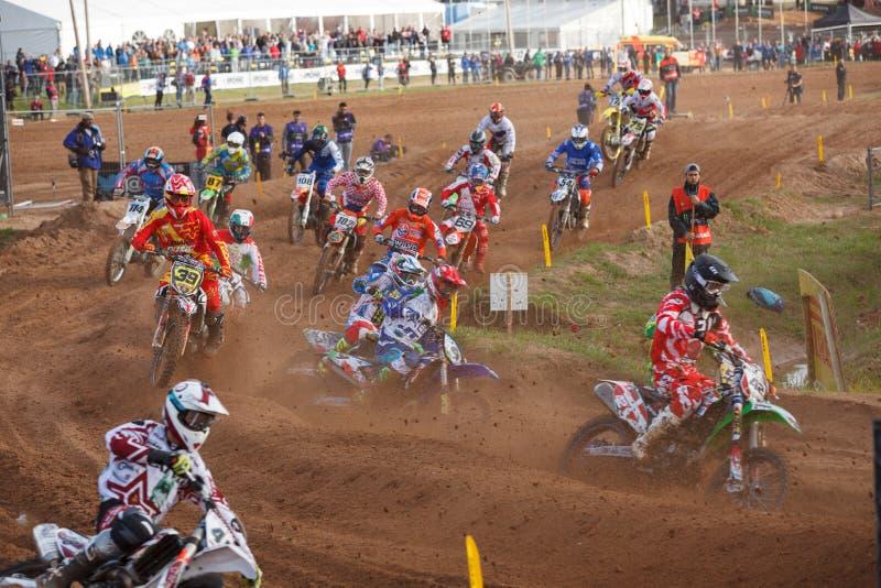 国家摩托车越野赛2014年 库存照片