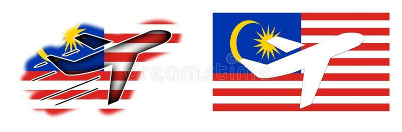 国家旗子-被隔绝的飞机-马来西亚 皇族释放例证