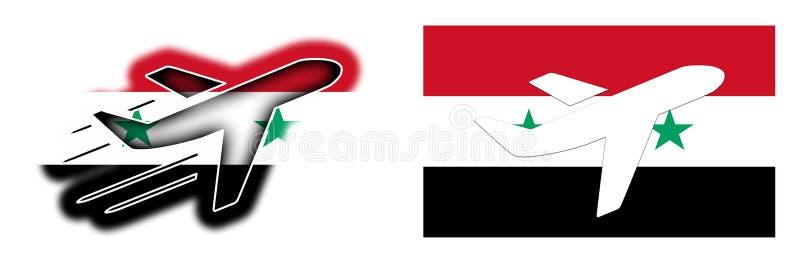 国家旗子-飞机-叙利亚 皇族释放例证