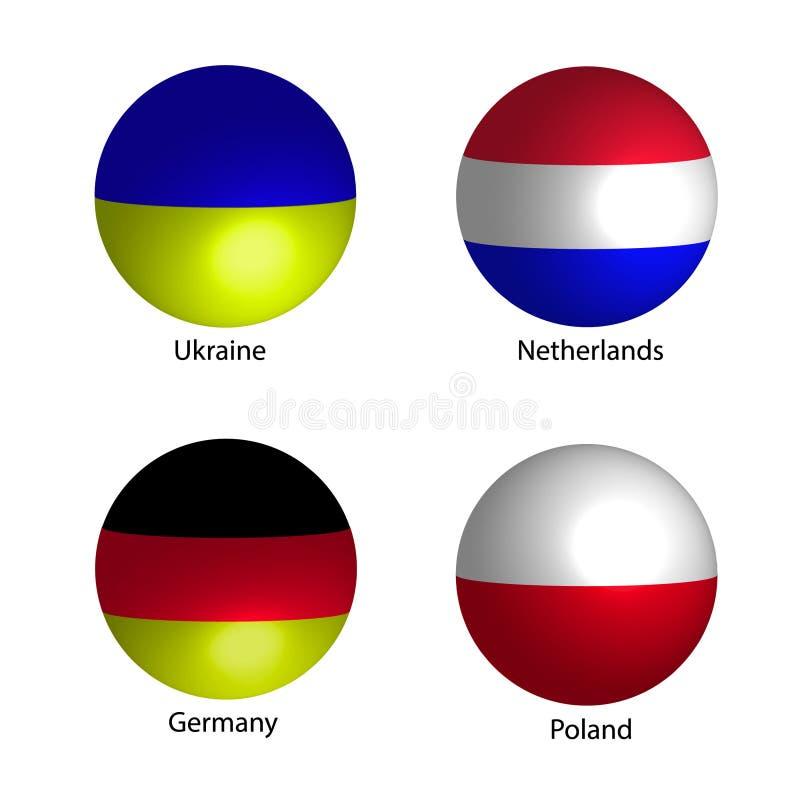 国家旗子 库存例证