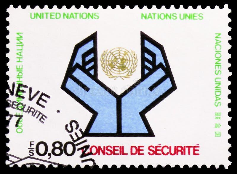 国家日内瓦显示安理会,serie,大约1977年 库存图片