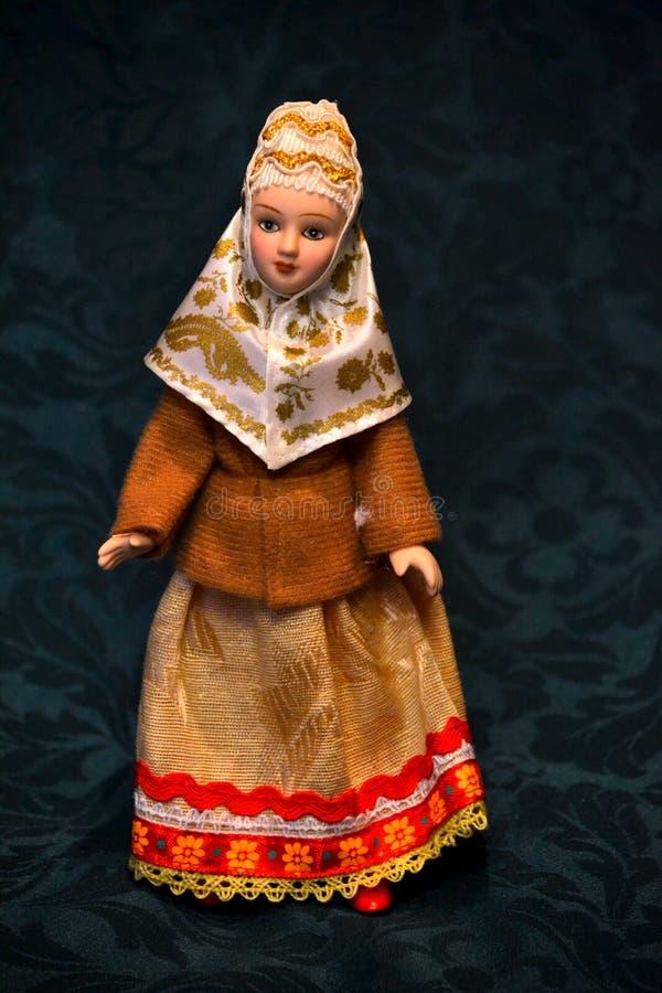 国家服装的女孩 免版税图库摄影