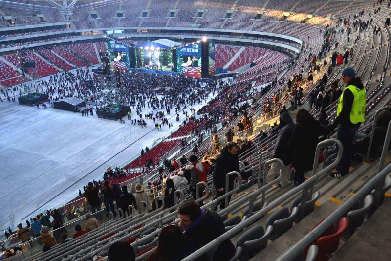 国家橄榄球场在华沙 免版税图库摄影
