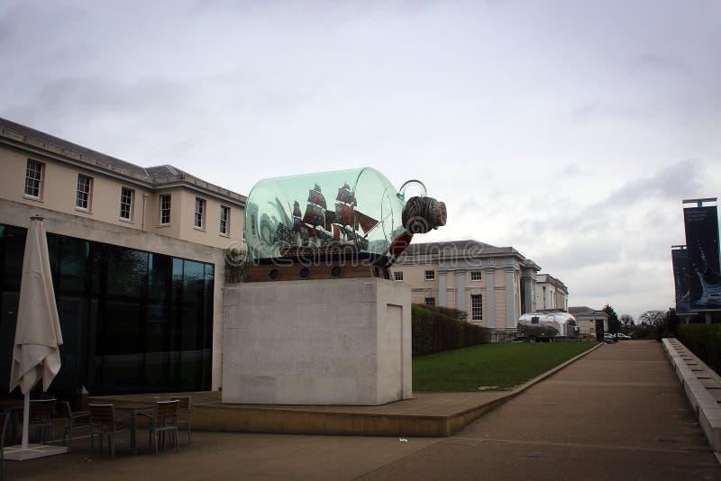国家海洋博物馆展出在格林威治,伦敦,大英国 免版税库存图片