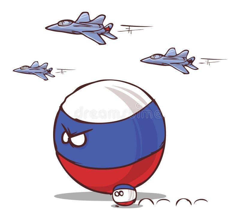国家球俄罗斯力量 库存例证