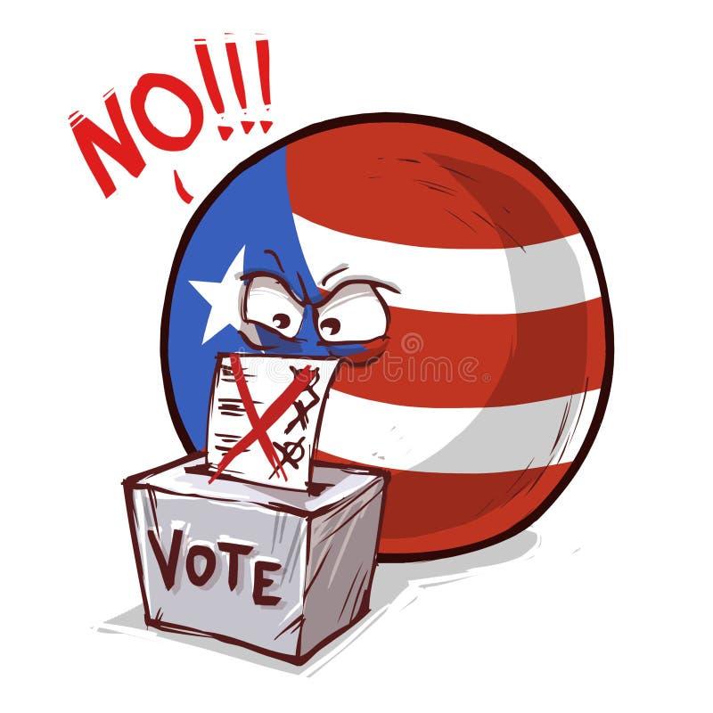 国家球投反对票的波多黎各 皇族释放例证