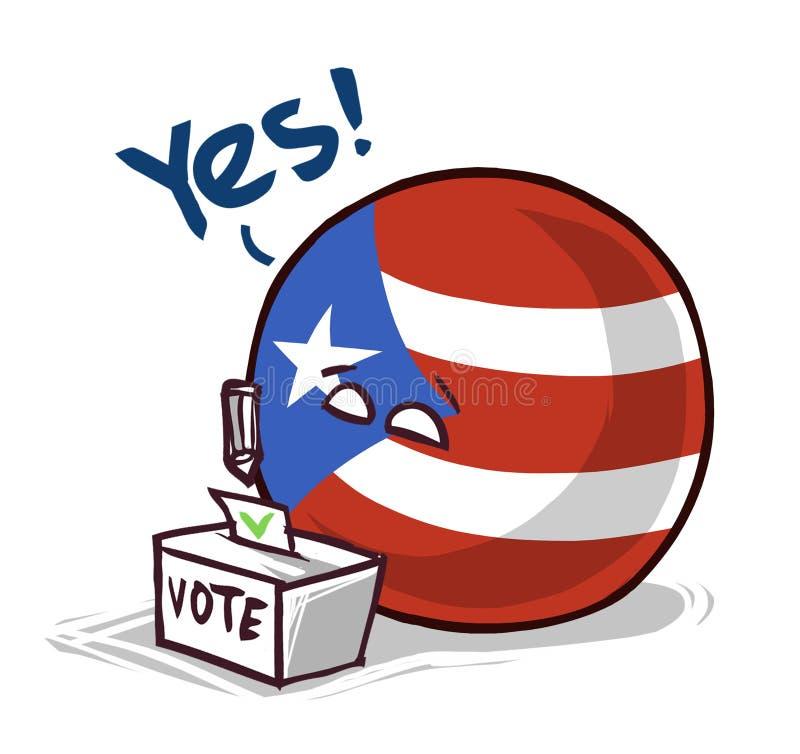 国家球投赞成票的波多黎各 向量例证