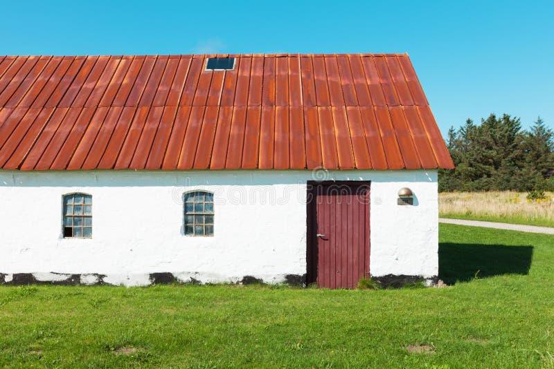 国家白色房子在丹麦,没人 库存图片