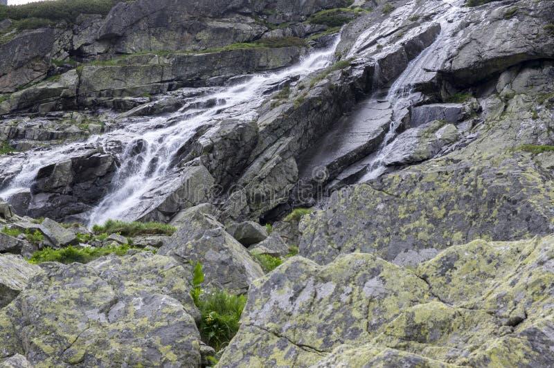国家级自然保护区Studena dolina, Tery村庄,瀑布,斯洛伐克高山邻里  免版税图库摄影