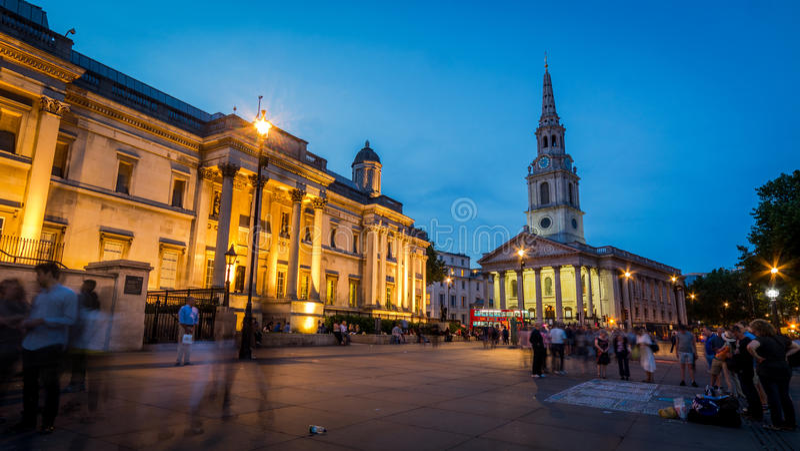 国家肖像馆,特拉法加广场,伦敦 免版税库存照片