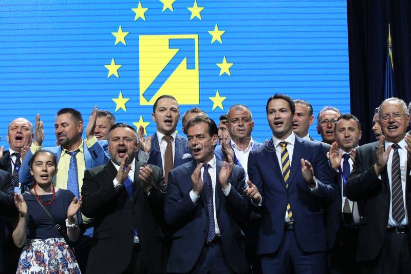 国家自由党竞选-罗马尼亚 免版税库存照片