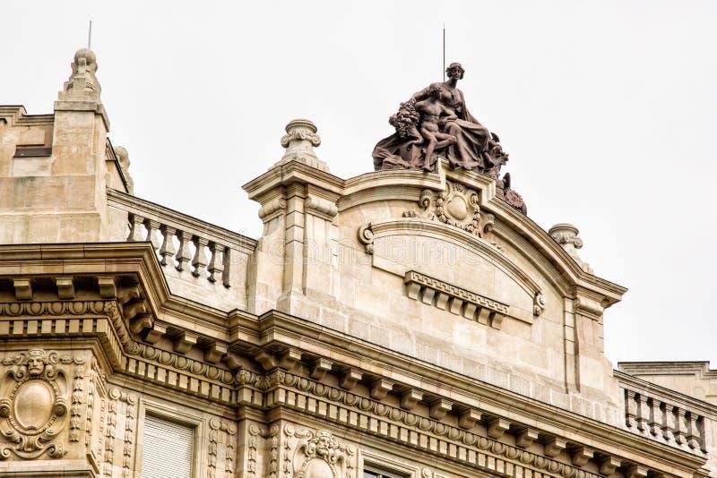国家银行大厦在布达佩斯,匈牙利 免版税图库摄影