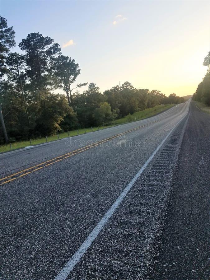 国家高速公路在得克萨斯 免版税库存照片