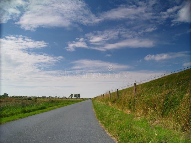 国家(地区)堤堰运输路线 库存照片