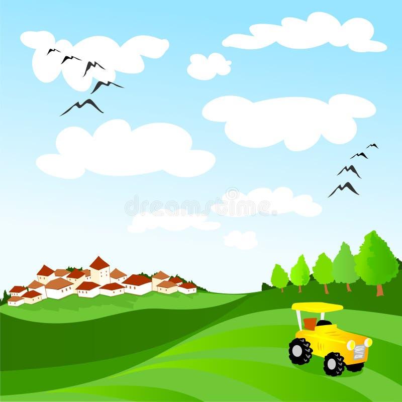 国家(地区)调遣横向其它拖拉机 向量例证