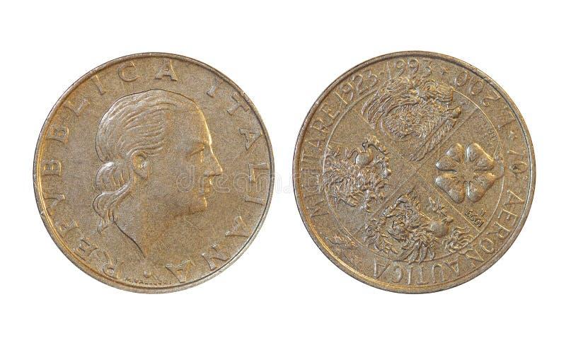 国家`老硬币,意大利 库存照片