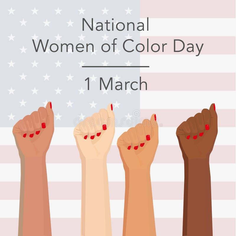 国庆节颜色妇女 库存例证