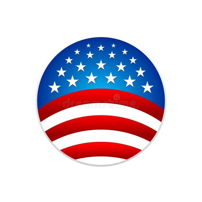 国旗圆条纹星标志商标设计 向量例证