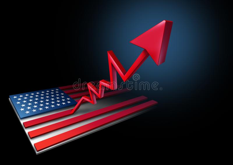国民生产总值美国增长率 向量例证