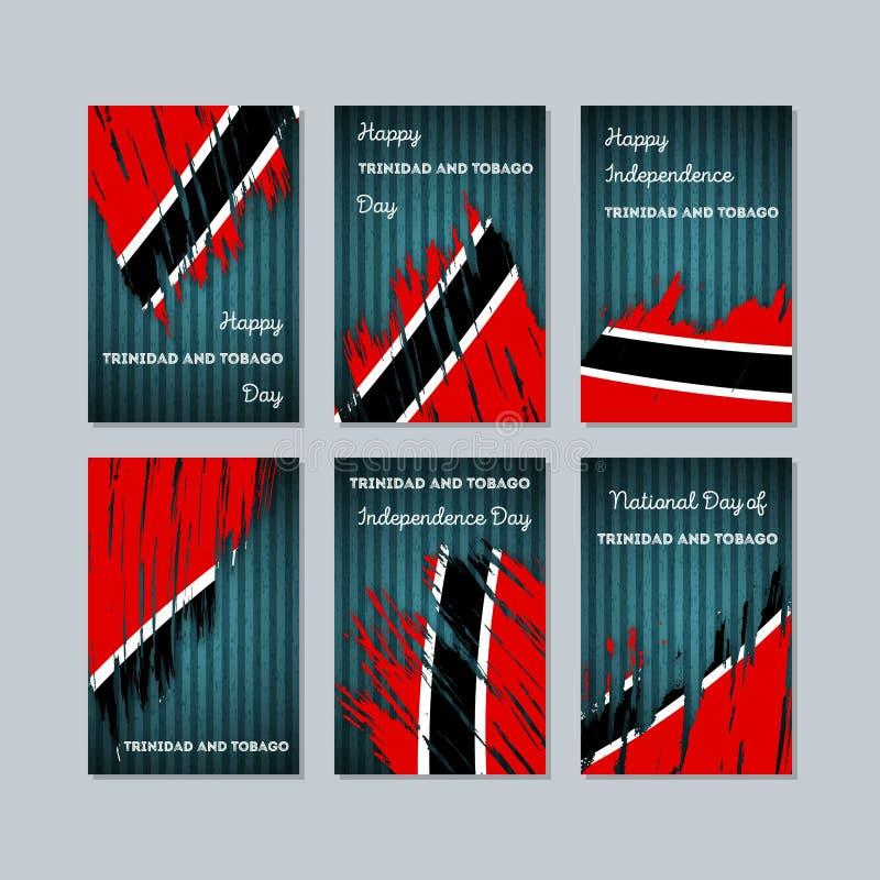 国民的特立尼达和多巴哥爱国卡片 库存例证