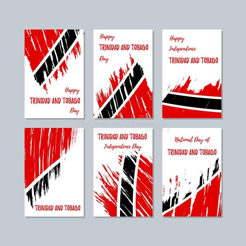 国民的特立尼达和多巴哥爱国卡片 皇族释放例证