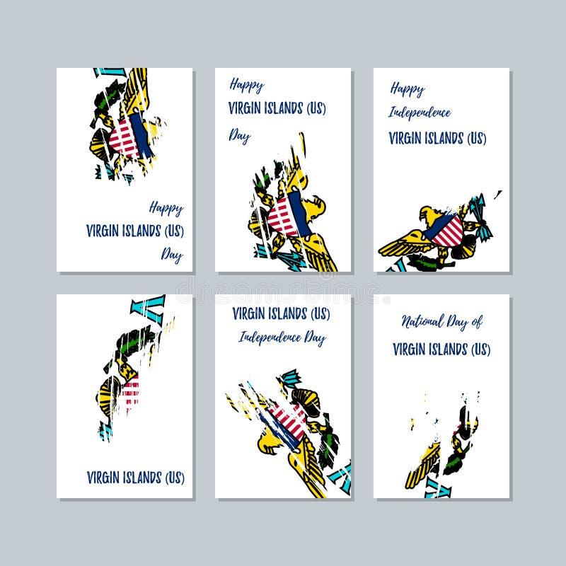 国民的维尔京群岛美国爱国卡片 皇族释放例证