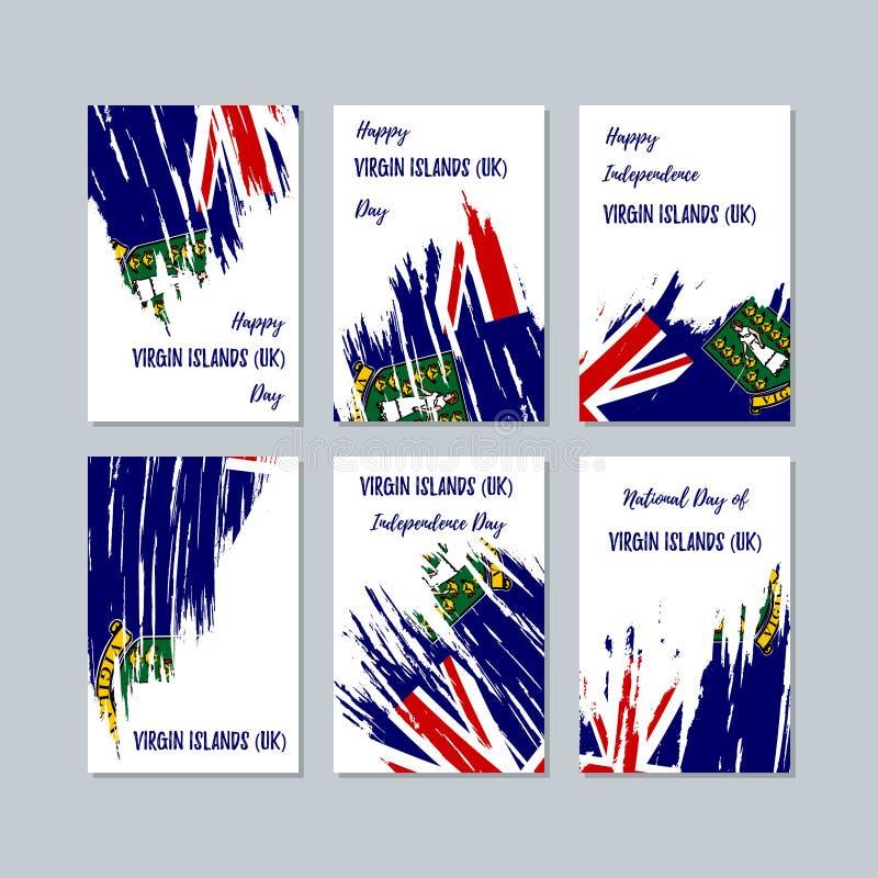 国民的维尔京群岛英国爱国卡片 库存例证