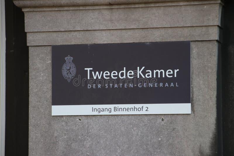国民议会或下院的名字标志 图库摄影