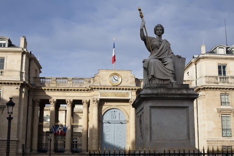国民议会的大厦在巴黎 免版税库存照片