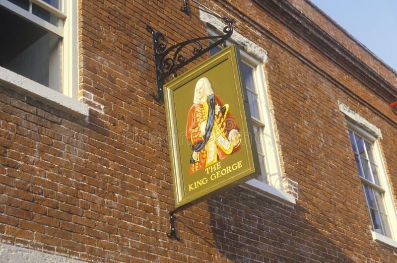 国王乔治Pub在历史的查尔斯顿, SC 免版税库存图片