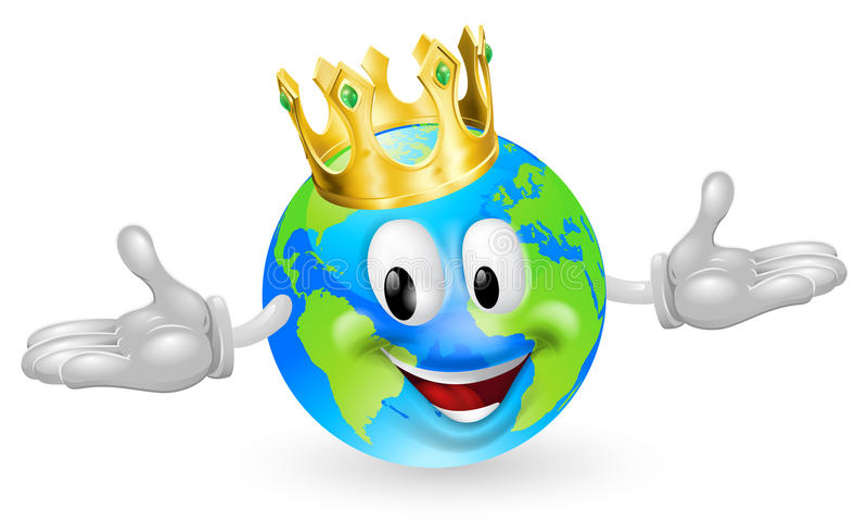国王吉祥人世界 向量例证
