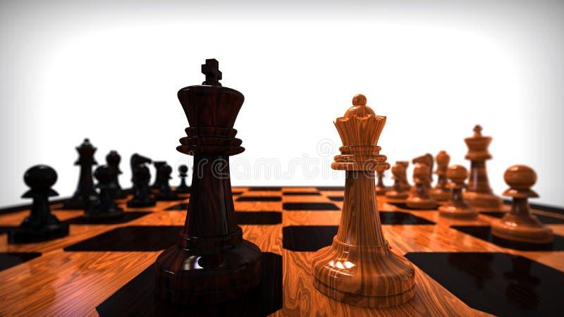 国王和女王/王后爱概念 向量例证