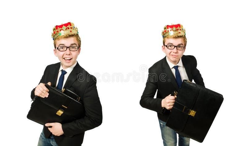 国王商人的概念与冠的 免版税库存照片
