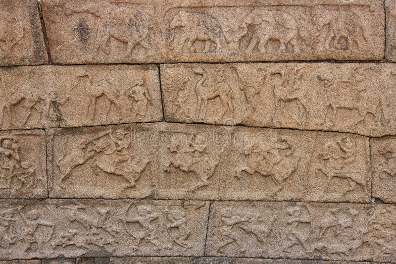 国王在雕塑的` s军队的行动 库存图片