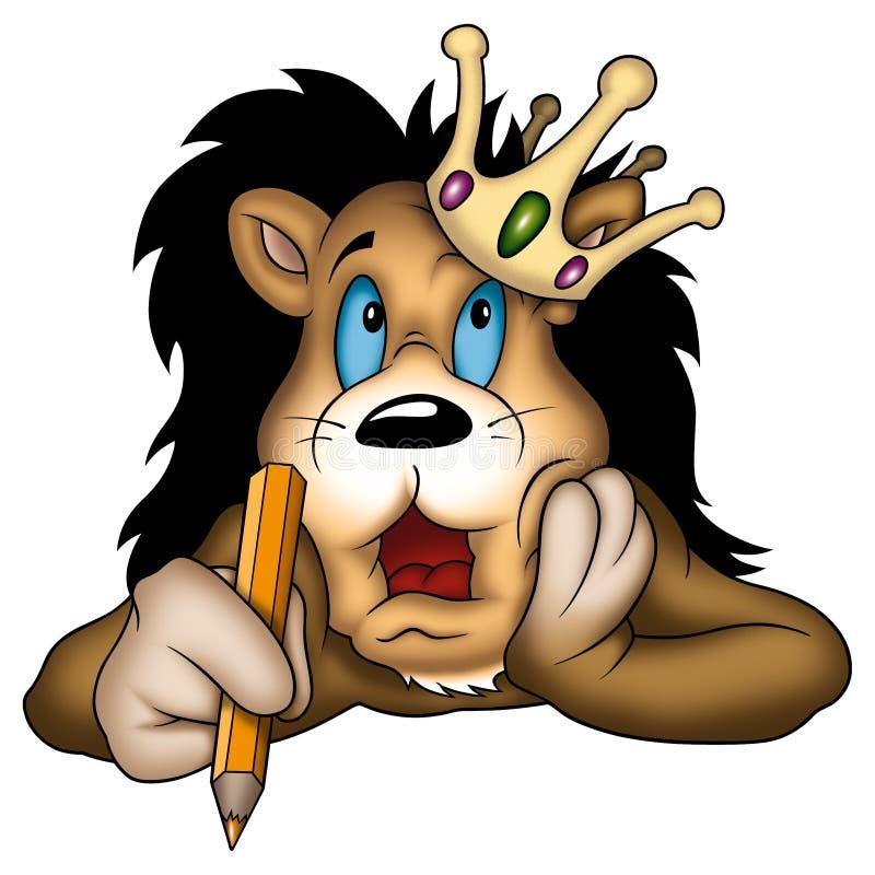 国王狮子画家 向量例证