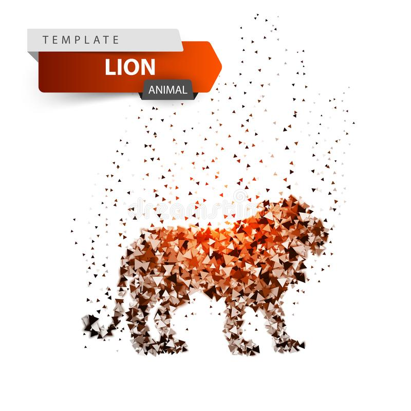 国王狮子-强光小点例证 皇族释放例证