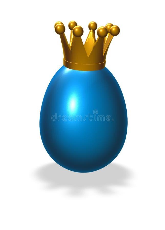 国王鸡蛋 向量例证