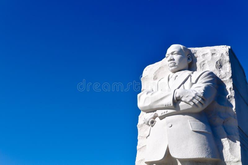 国王luther马丁纪念碑雕象 免版税库存照片