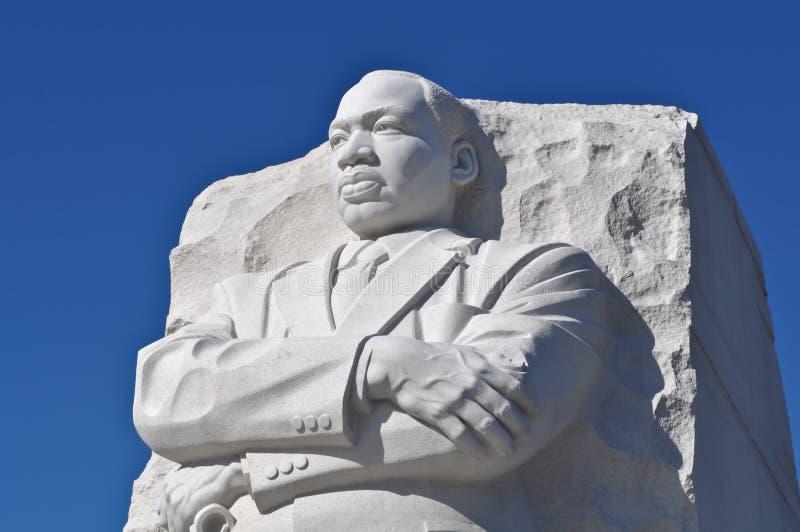 国王luther马丁纪念碑雕象 免版税库存图片