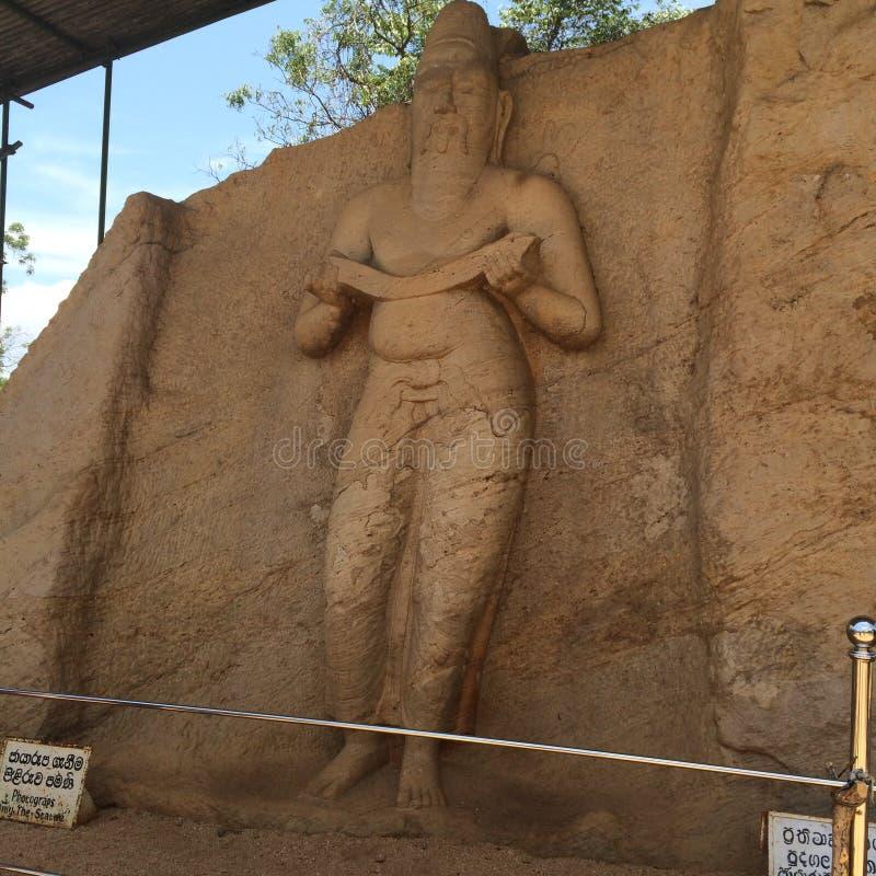 国王parakramabahu雕象-斯里兰卡的图片 免版税库存照片